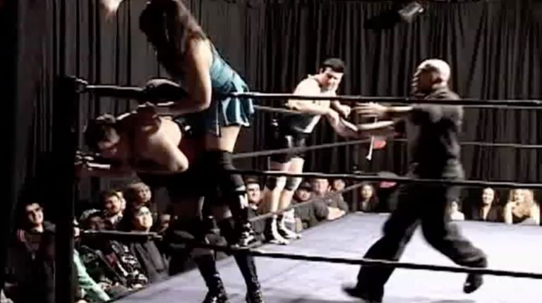 Cheerleader Melissa & JJ Perez vs. Vennis DeMarco & Chris Colioni