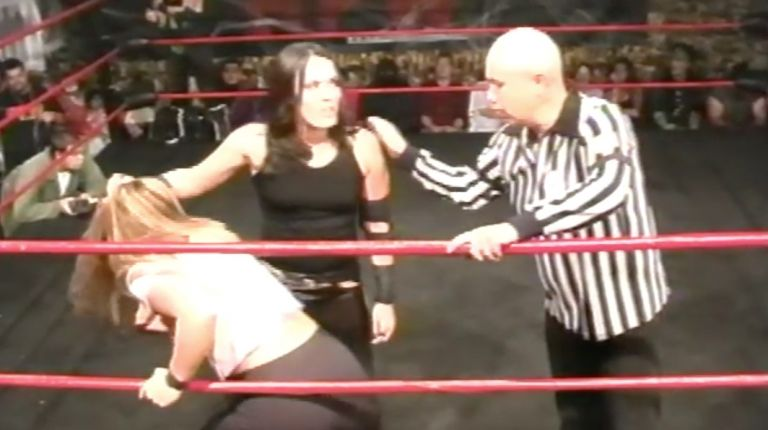 Cheerleader Melissa & Kryptonite vs. Sara Del Rey & Vic Grimes