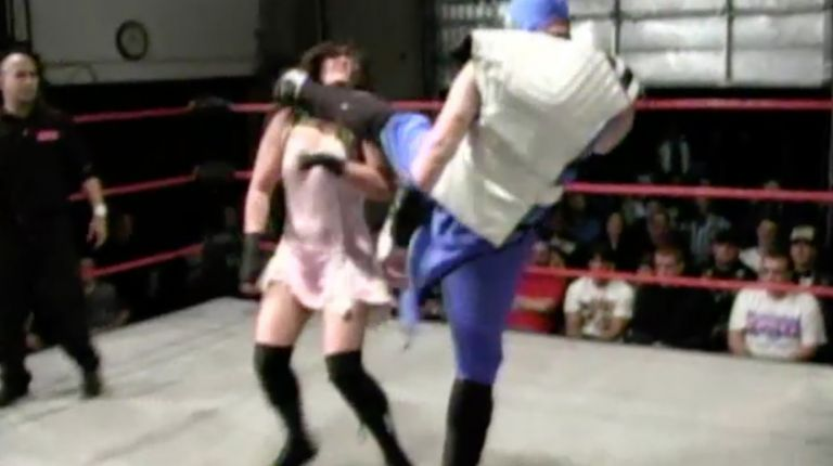 Kyu Ketsuki & Kid Omega vs. Cheerleader Melissa & Tiffany