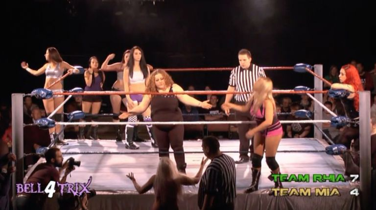 Destiny, Erin Angel, Miss Mina & Skarlett vs. Chanel, Liberty, Penelope & Violet O'Hara