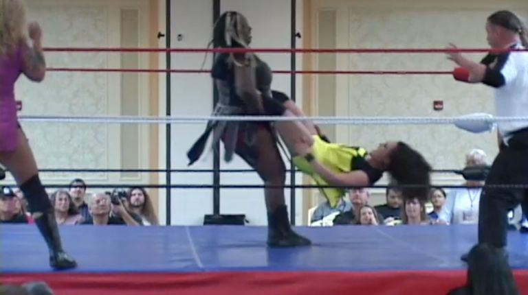 Cheerleader Melissa & ODB vs. Jaime D & Amazing Kong