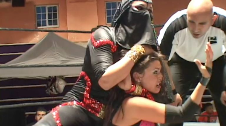 Raisha Saeed & Gangrel vs. Rain & Mr. Wrestling IV