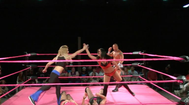 Annie Richards & Sunni Daze vs. Violet Affect & Gisele Shaw