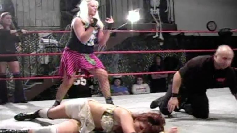 Hailey Hatred, Rain & Morgan Rockafeller vs. Cheerleader Melissa, Tiffany & Rebecca Knox