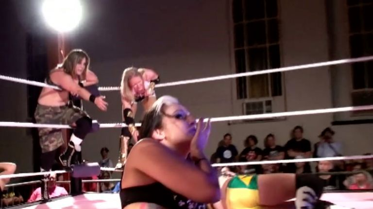 Allysin Kay, Jessicka Havok & Sassy Stephie vs. Cat Power, Courtney Rush & Xandra Bale