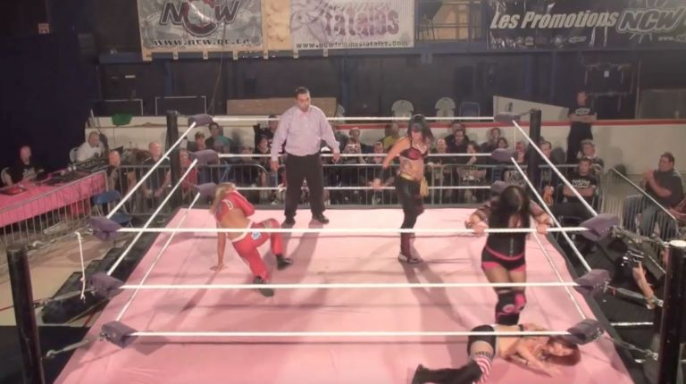 Mary Lee Rose & Kira vs. Addy Starr & Kaitlin Diemond