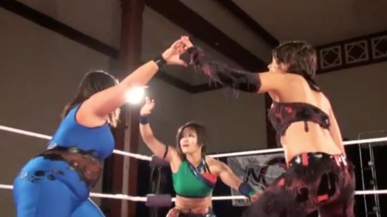 Portia Perez vs. Tomoka Nakagawa vs. Sweet Cherrie