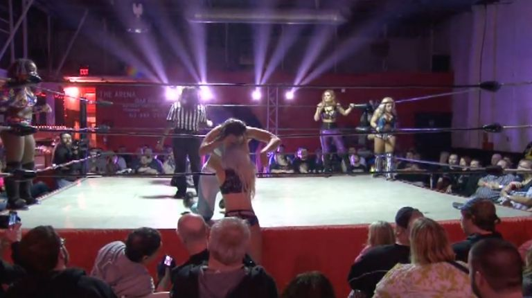 Savannah Evans, Scarlett Bordeaux & Solo Darling vs. Amazing Maria, Ray Lyn & Hayley Shadows