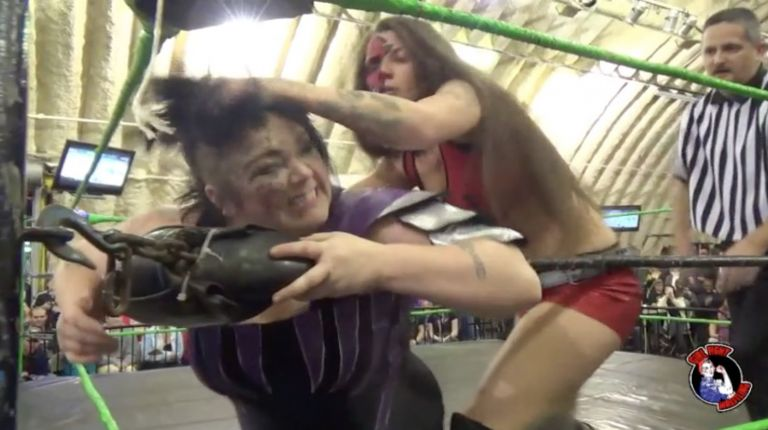 Mickie Knuckles vs. Hayley Shadows