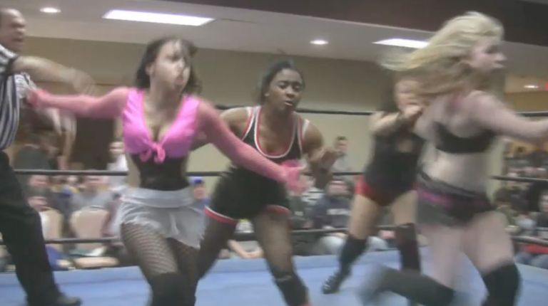 Kacee Carlisle and Simply Dvyne vs. Kimber Lee and Aida Marie