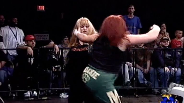 Ian Rotten & Amy Lee vs. Mana & Mickie Knuckles