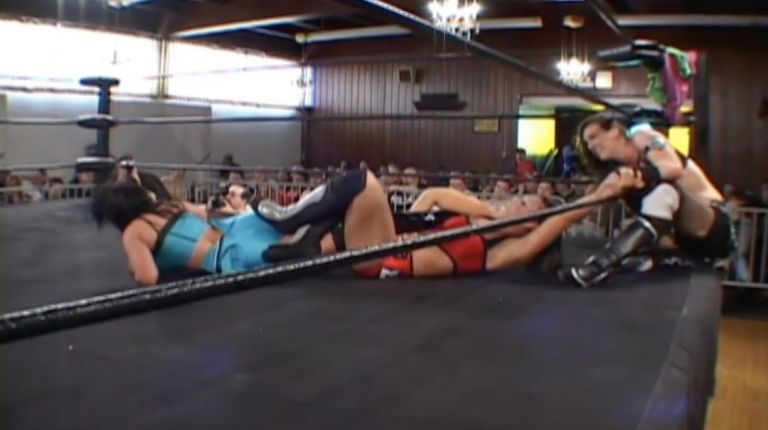 Cheerleader Melissa & Ayako Hamada vs. Madison Eagles & Sara Del Rey