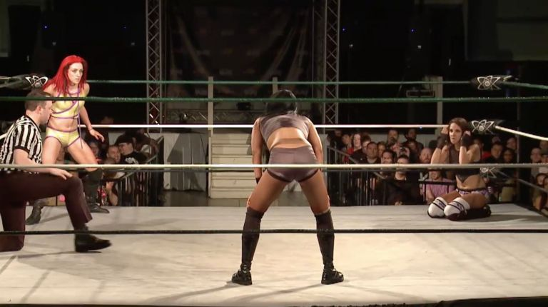Kay Lee Ray vs. Cheerleader Melissa vs. Evie