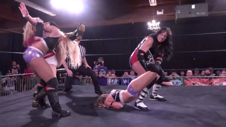 Cherry Bomb & Kimber Lee vs. Xandra Bale & Courtney Rush