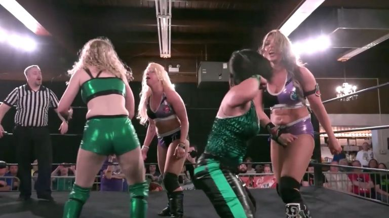 Cherry Bomb & Kimber Lee vs. Tomoka Nakagawa & Kellie Skater