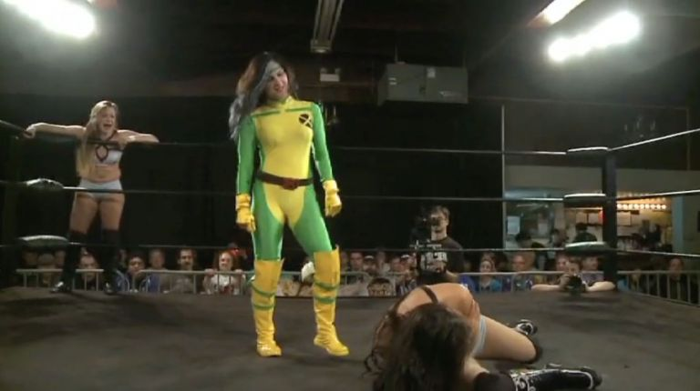 Cherry Bomb & Kimber Lee vs. Leva Bates & Veda Scott