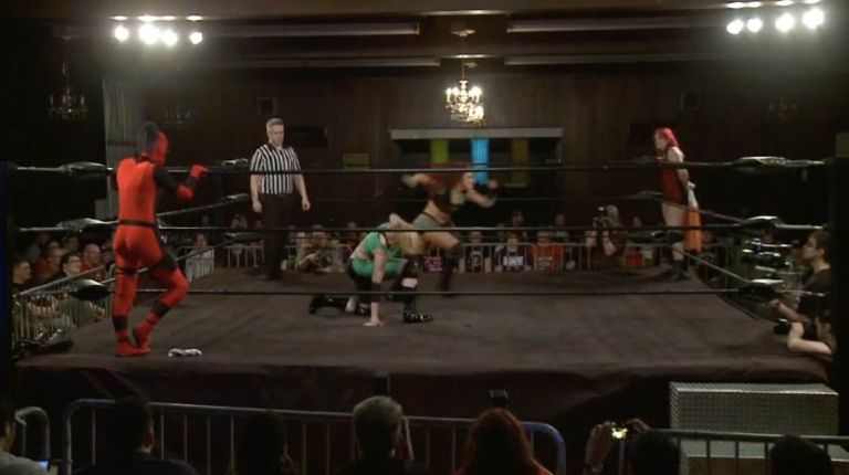 Rhia O'Reilly & Saraya Knight vs. Leva Bates & Veda Scott