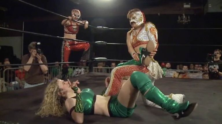 Kellie Skater & Tomoka Nakagawa vs. Leon & Ray