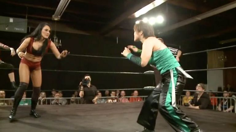 Kellie Skater & Tomoka Nakagawa vs. Cheerleader Melissa & Mercedes Martinez