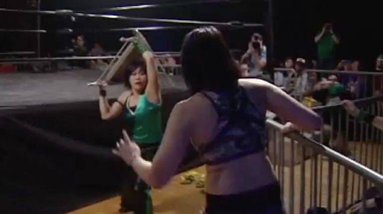 Kellie Skater and Tomoka Nakagawa vs. Nicole Matthews and Portia Perez