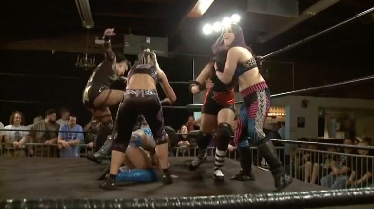 Courtney Rush, Evie & Heidi Lovelace vs. Nicole Matthews, Portia Perez & Jessicka Havok