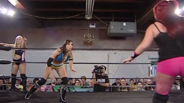 Cherry Bomb & Kimber Lee vs. Crazy Mary Dobson & Mary Lee Rose