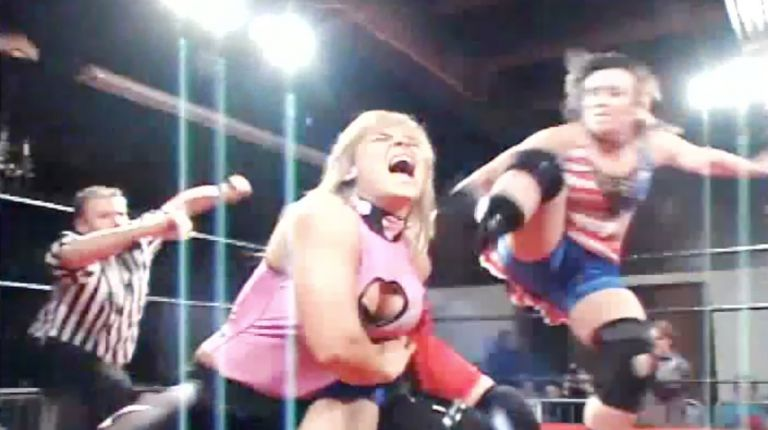 Cheerleader Melissa & Nattie Neidhart vs. Sara Del Rey & Allison Danger
