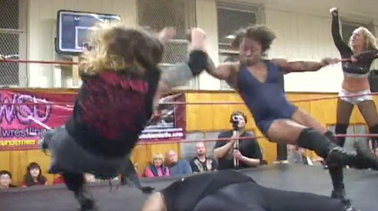 Balls Mahoney & Jazz vs. Bison Bravado & Amber O''Neal