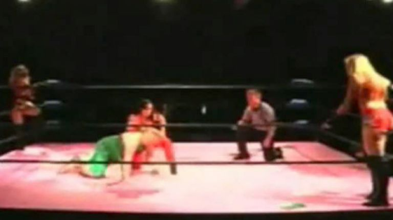 Annie Social & Kimber Lee vs. Rick Cataldo & Ezavel Suena