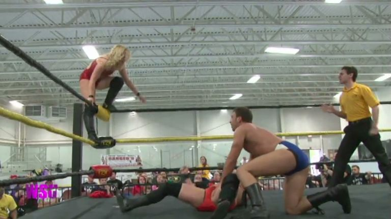 Kimber Lee & Drew Gulak vs. Nevaeh & Jake Crist
