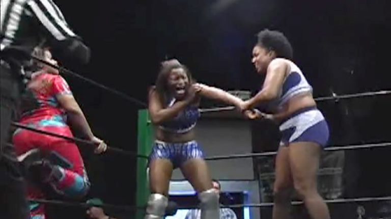 Jana & Jessie Brooks vs. Jennifer Cruz & Monique