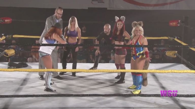 Angel Dust & Veda Scott vs. Brittany Blake & Solo Darling