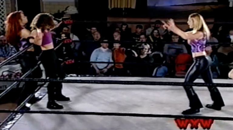 April Hunter & Nikki Roxx vs. Cindy Rogers & Traci Brooks